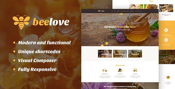 Beelove   Honey Production and Sweets Online Store WordPress Theme